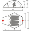 Высокая кемпинговая палатка Каслрей 4
