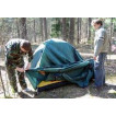 Трехместная туристическая палатка купольного типа для путешествий с велосипедами или большим багажом Alexika Tower 3 Plus зеленый