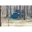 Трехместная туристическая палатка купольного типа для путешествий с велосипедами или большим багажом Alexika Tower 3 зеленый