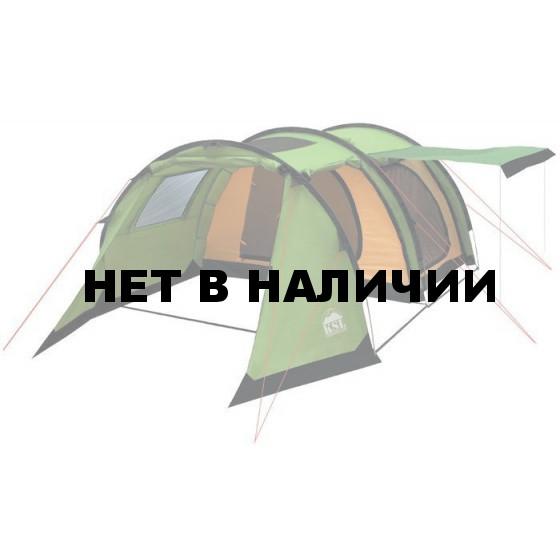 Кемпинговая палатка-полубочка с большим тамбуром KSL Barel 4 зеленый