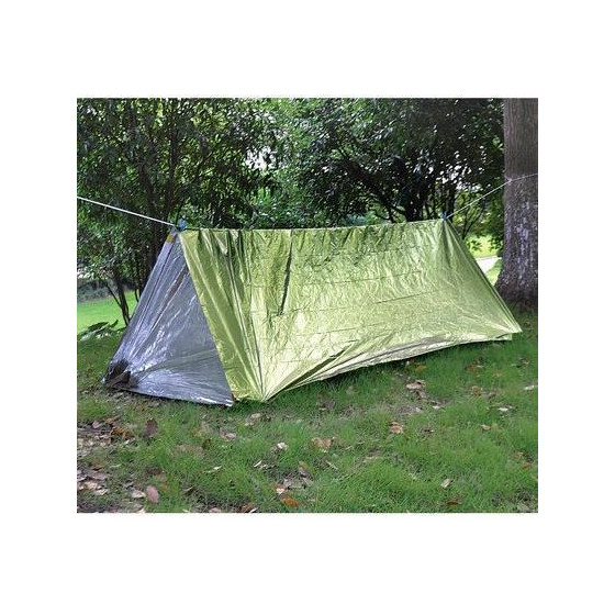 Палатка термосберегающая, туба AceCamp Reflective Tube Tent - Green 3953