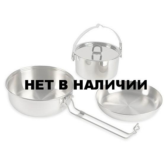 Набор посуды из трех предметов Camp Set L, without Description, 4114