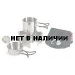 Компактный набор посуды с горелкой Alcohol Burner Set, without Description, 4133
