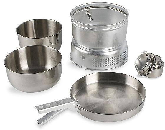 Набор посуды со спиртовой горелкой Multi Set + Alcogol Burner, 4010