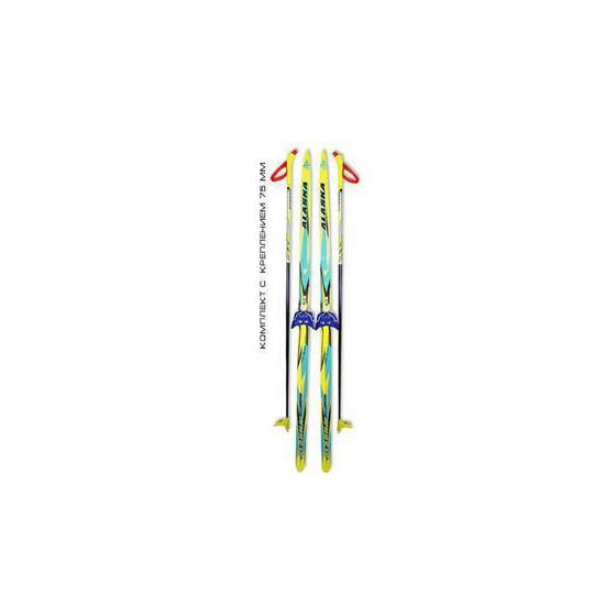 Беговые лыжи STC (лыжи, крепления 75мм, палки) 150 см УЦЕНЕННЫЕ