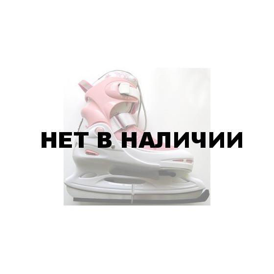 Коньки раздвижные PW-211F (розовые)