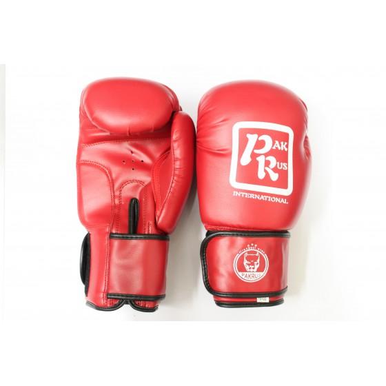 Перчатки боксерские Pak Rus, искусственная кожа, 10 OZ ,красные, PR-128880