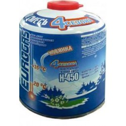 Баллон газовый ЕВРОГАЗ 450 гр. (4 СЕЗОНА)