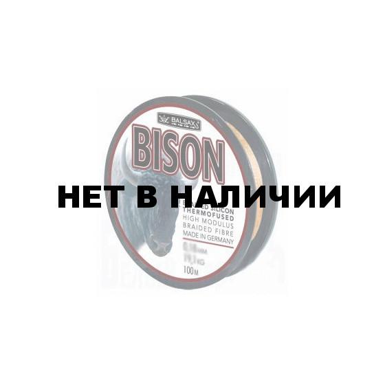 Рыболовная леска плетеная Bison 100м 0,14 (14,8 кг, черная)