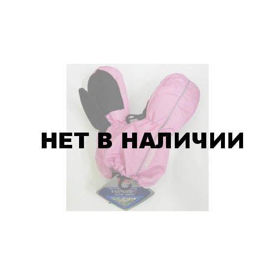 Варежки детские 3536А (розовые)
