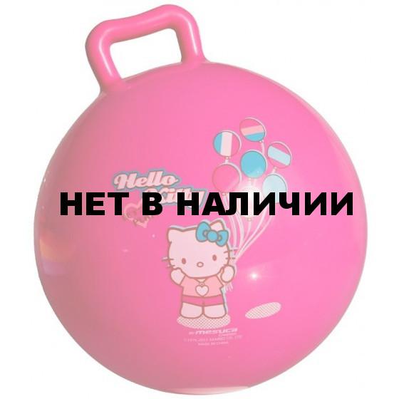 Мяч попрыгун HELLO KITTY (с ручкой и погремушкой внутри,19,5см ) HJI26122