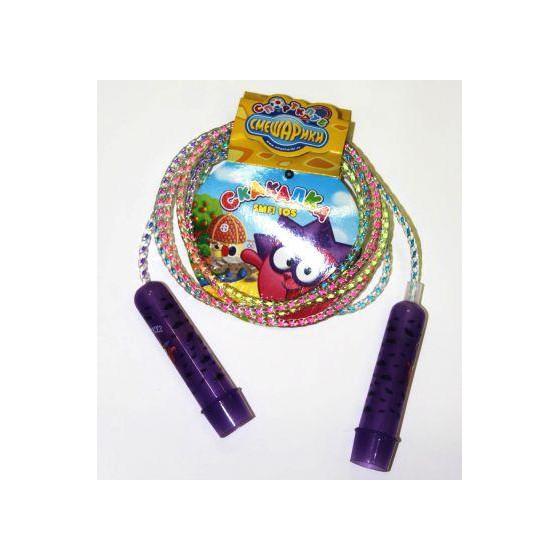 Скакалка Смешарики со шнуром-радугой Ёжик SMFI 105