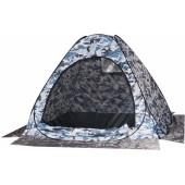 Палатка рыбака Скаут автомат 1,5х1,5 белый, камуфляж (без дна)