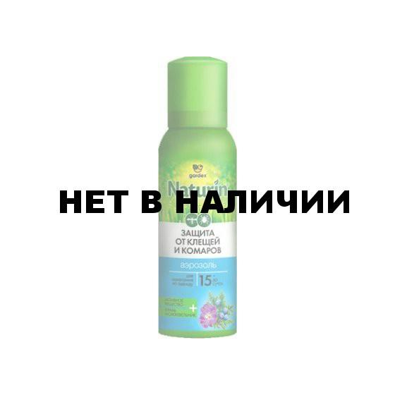 Аэрозоль Gardex Naturin от комаров и клещей на одежду 100мл (N002)