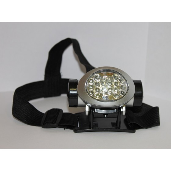 Фонарь налобный светодиодный овальный (ФНО18д), 18 LED