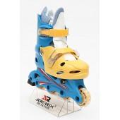 Роликовые коньки JOEREX RO0306 (синий/желтый)