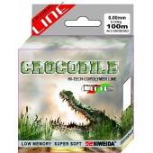 Леска SWD Crocodile 100м 0,25 (5,70кг) ваккум/уп прозрачная