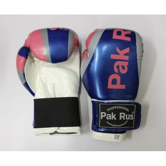 Перчатки боксерские Pak Rus, искусственная кожа DX, 10 OZ синие