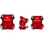Набор защиты для роликов Joerex PR0901 красный