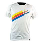 Stripe Logo T-Shirt M White