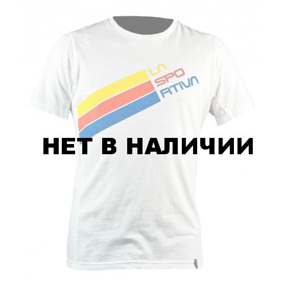 Stripe Logo T-Shirt M White