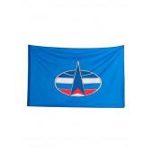 Флаг Космические войска автомобильный