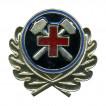 Кокарда ВГСЧ в обрамлении с крестом металл