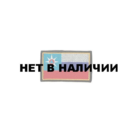 Нашивка на рукав Флаг МЧС России 55х90мм вышивка шелк