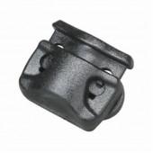 Фиксатор для шнура с двумя отверстиями 3мм 1-20235/1-22235 (2 части) черный Duraflex