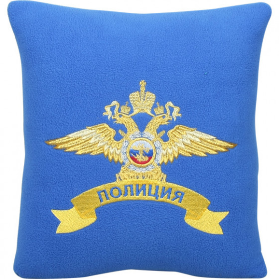 Подушка сувенирная Полиция вышитая