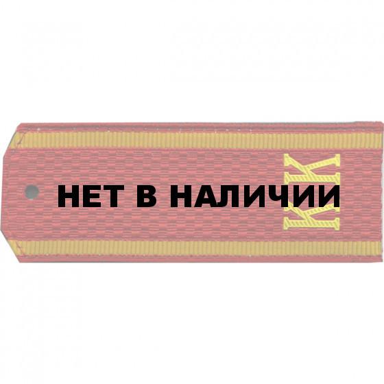 Погоны Кадетский корпус с буквами КК на цветном сукне