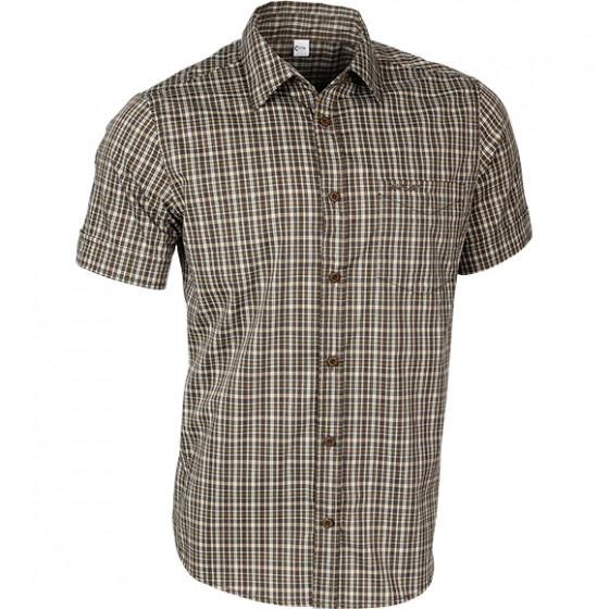 Рубашка мужская Sunburn клетка коричневая