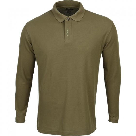 Рубашка Поло с длинным рукавом brown