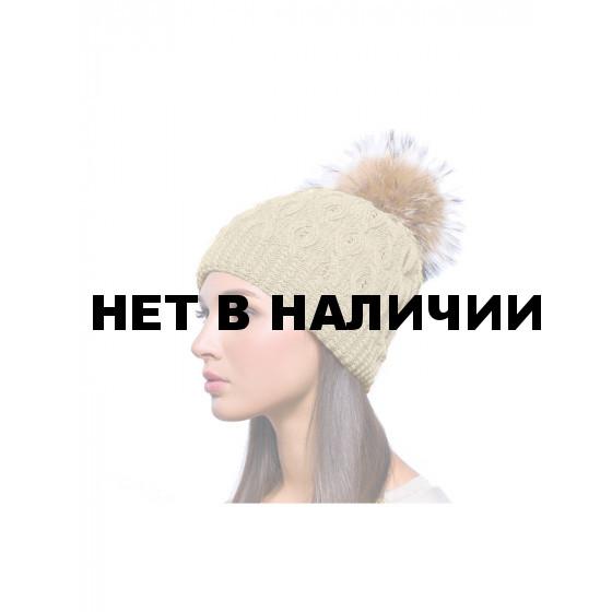 Шапка полушерстяная marhatter женская 4547 св. бежевый