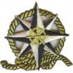 Термонаклейка -1334 Роза ветров вышивка