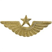 Эмблема ВВС на тулью старого образца металл