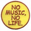 Термонаклейка -0749 Без музыки нет жизни вышивка