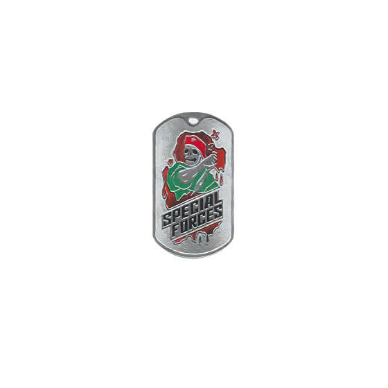 Жетон 2-7 SPECIAL FORCES красный берет металл