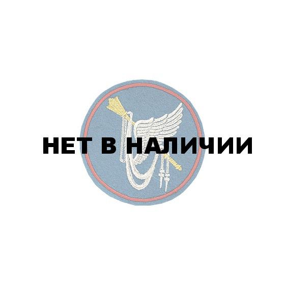 Нашивка на рукав ВС РФ ГК ВВС вышивка люрекс