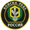 Нашивка на рукав Россия Войска РХБЗ камуфлированная пластик