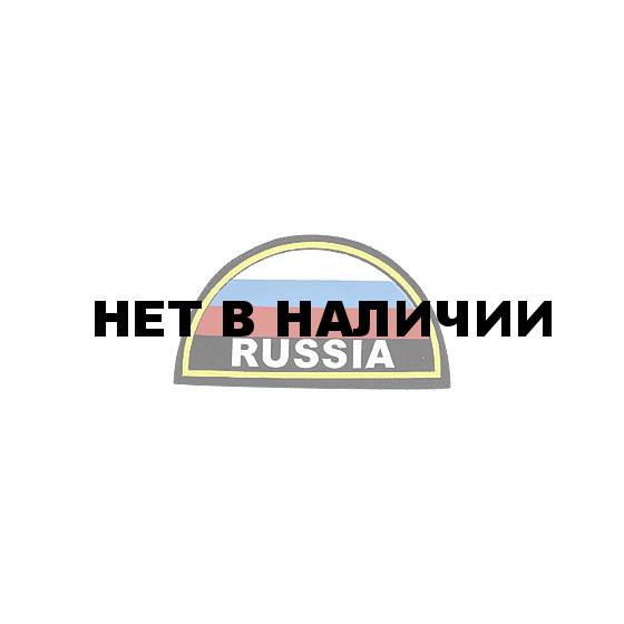 Нашивка на рукав RUSSIA желтый кант вышивка люрекс