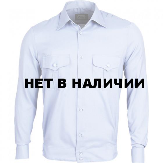 Рубашка форменная, длинный рукав, светло-голубая