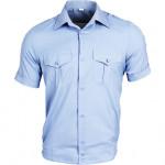 Рубашка форменная, короткий рукав, светло-голубая