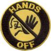 Термонаклейка -0646 Руки прочь вышивка