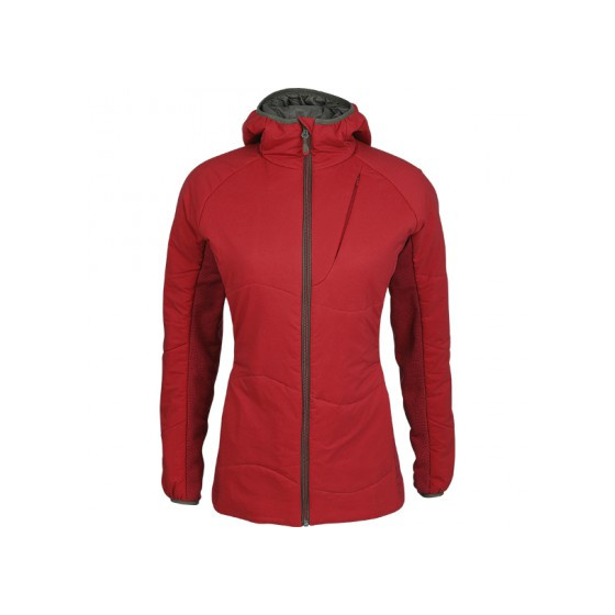 Куртка женская Resolve Primaloft красная с капюшоном