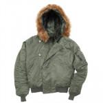 Куртка N-2B Short Waist Parka Sage Green Alpha Industries