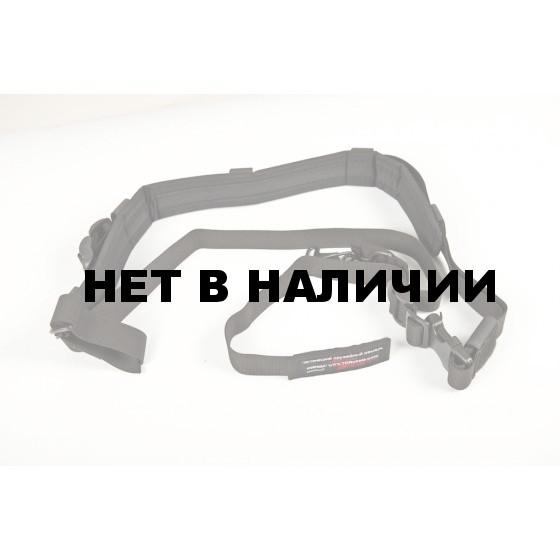 Ремень тактический оружейный черный Долг-М3 (погон)