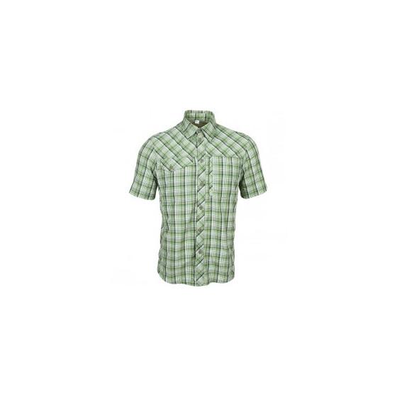 Рубашка Grid, короткий рукав, серо-зеленая
