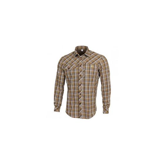 Рубашка Grid, длинный рукав, chocolate jazzy