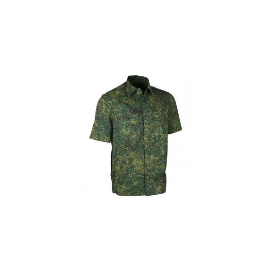 Рубашка форменная, короткий рукав, цифровая флора